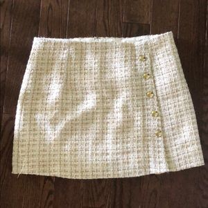 Forever 21 gold and white knit skirt